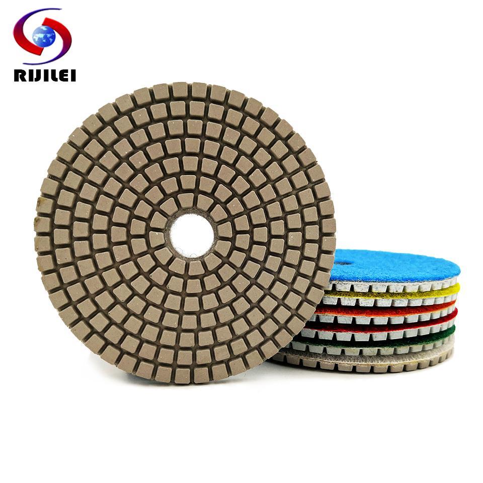 New 10pcs 4inch Diamond Polishing Pad Set Granite Marble Concrete Grinding Disc