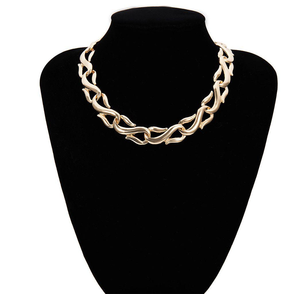 Nuovo 2019 Collane Catene Pendenti girocollo catena del serpente dell'oro di collegamento delle donne lega gioielli di moda delle donne Moda Uomo #BE all'ingrosso