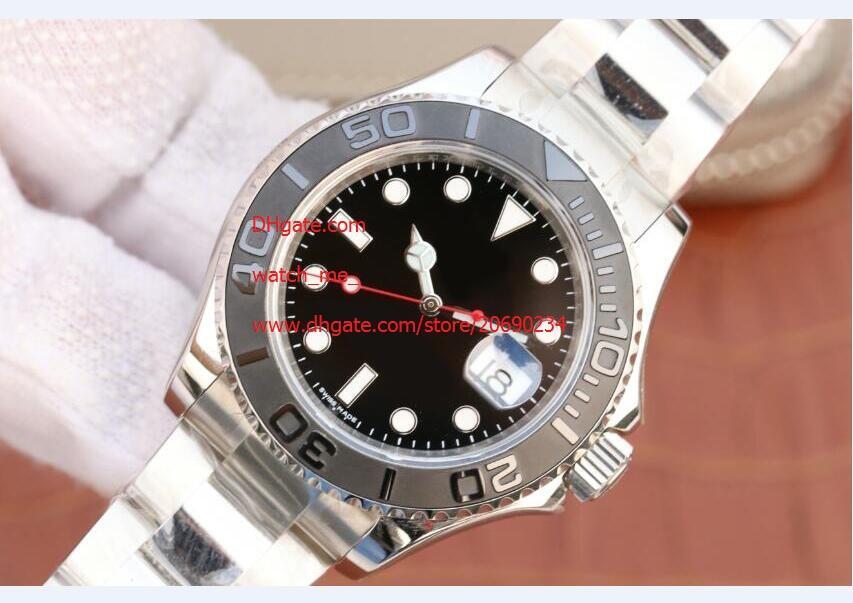Бесплатная доставка завод Поставщик Sapphire 40мм 116622 черный ободок автоматические механические Mens Мужские часы Часы топ наручные часы черный циферблат