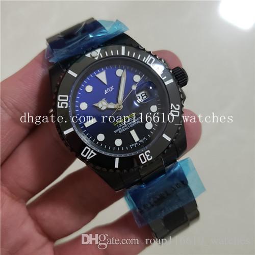 Orologio da uomo meccanico completamente automatico lanciato di recente. Anello in ceramica 2813 interamente in acciaio con rivestimento in PVD nero