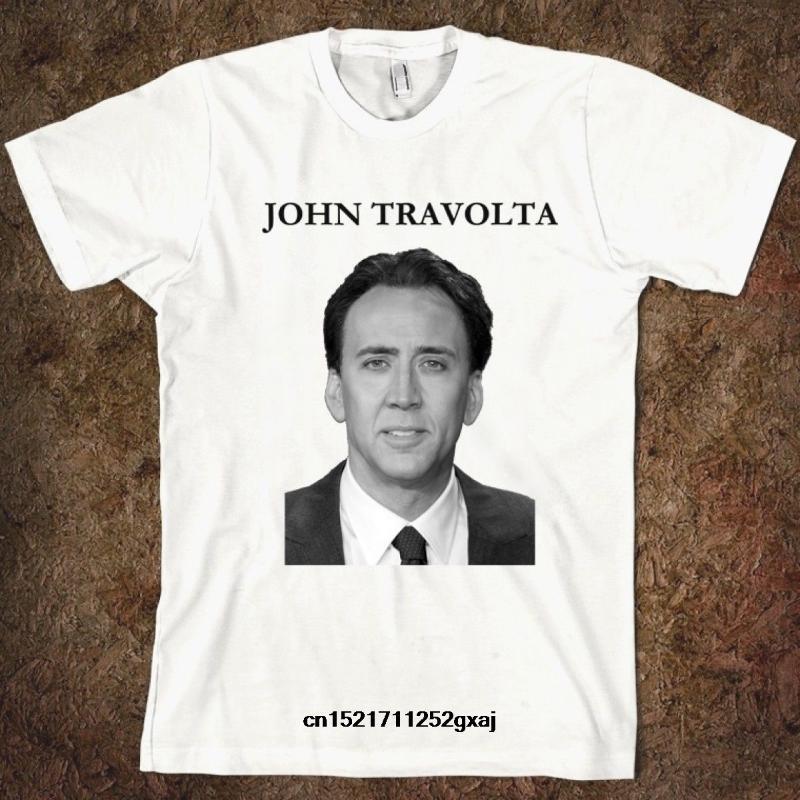 hombres de la camisa divertida del T mujeres novedad camiseta Nicolas Cage frente apagado camiseta diver
