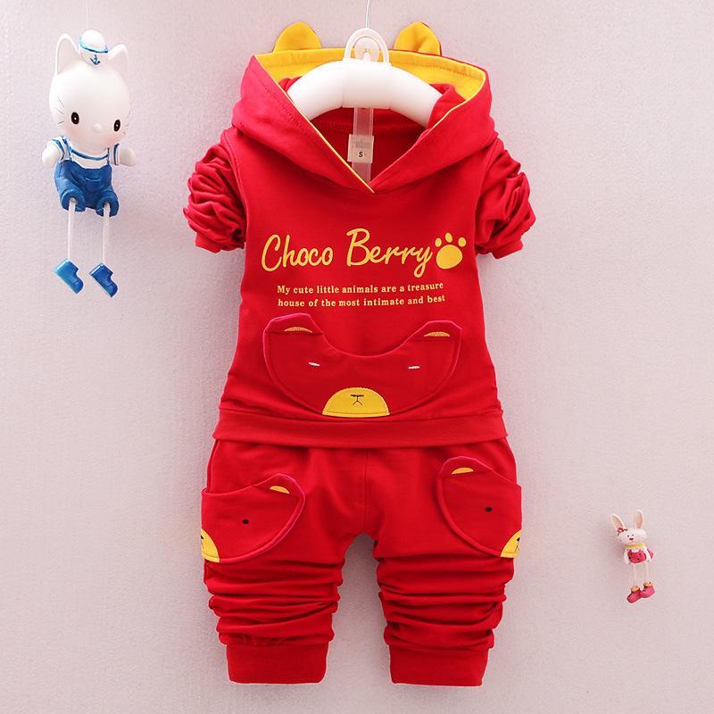 Vêtements pour enfants 0-4-Year-Old GARÇON Printemps Vêtements 2019 Nouveau style printemps et en automne à manches longues à capuche enfants Costume Vêtements de bébé