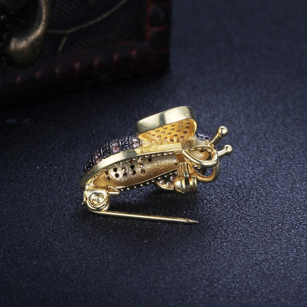 018 nouveau strass vêtements Broche abeille en alliage coréenne NE102794 mignonne broche de strass style Pin w4urP