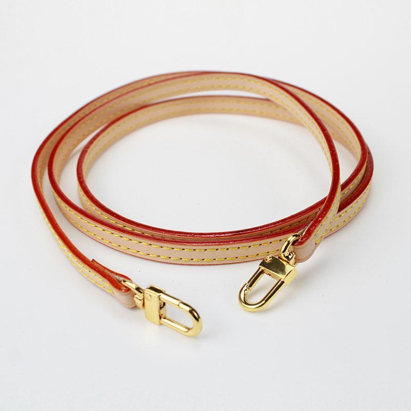 Echtes Leder feine Tasche Gürtelbreite 0.9CM Länge 120cm Unadjustable Beutel Ersatz-Paket mit hochwertigem Zubehör