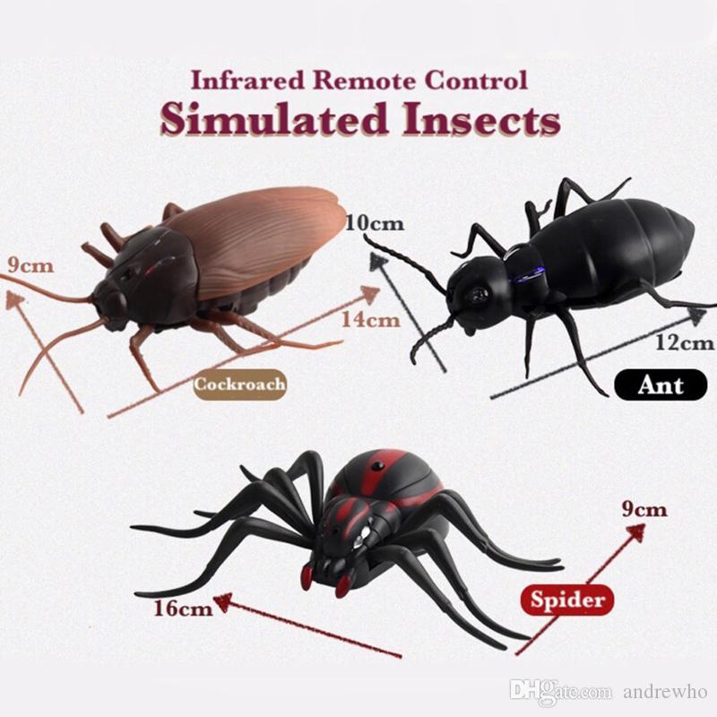 تحت الحمراء RC التحكم عن بعد للحشرات الحيوانية لعبة الأطفال ألعاب مؤذية ... ... عناكب صرصور مخيفة ... ...