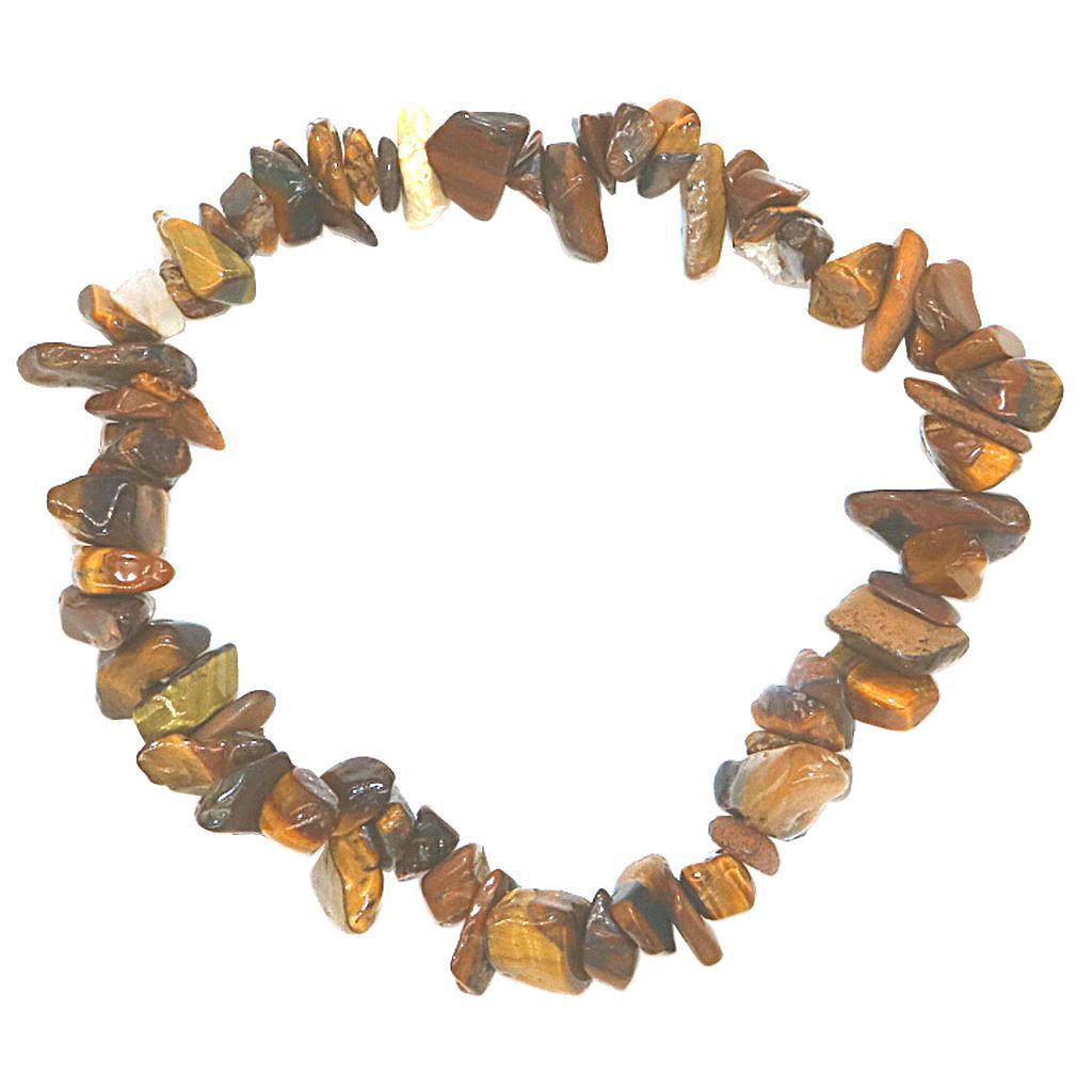 Bracciale Charms ghiaia irregolare di pietra del filo del braccialetto naturale monili del braccialetto elastico Donne Chic Stretch elastico