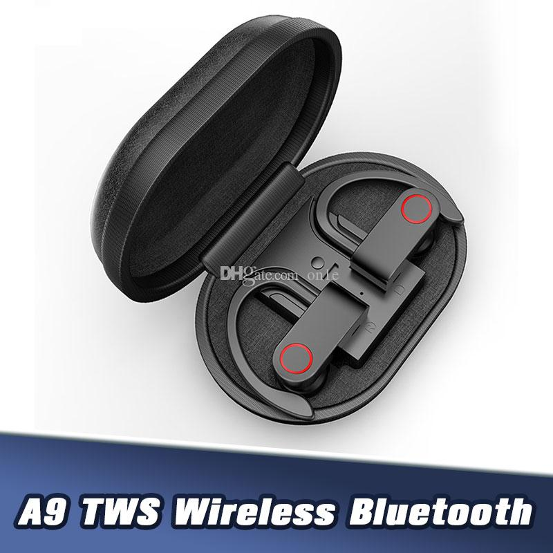 A9 TWS5.0 Bluetooth sans fil écouteurs stéréo sans fil vrai Portale Sport écouteur étanche avec charge de cas