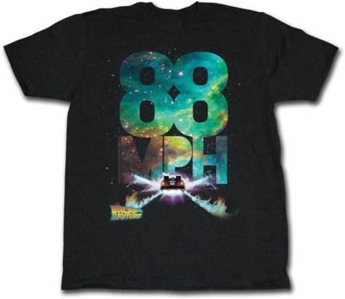 العودة إلى المستقبل 88 Mph Flames Adult T Shirt