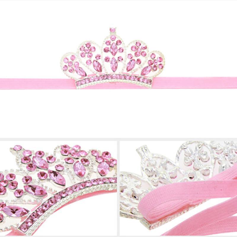 2019 Gifts abito del bambino Neonata appena nata Crown Princess fasce di cristallo Diamante diadema dei capelli della fascia dei capelli puntelli foto del bambino