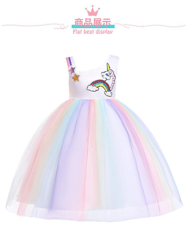 Compre Vestido Unicornio Para Babys Girl Princess Dress Unicorn Party Girls Easter Niños Vestidos Para Niñas Ropa A 1759 Del Worldbaby2015