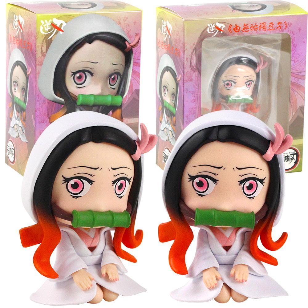 2020 Cartoon Anime Figure Kamado Nezuko White Kimono Pvc Action