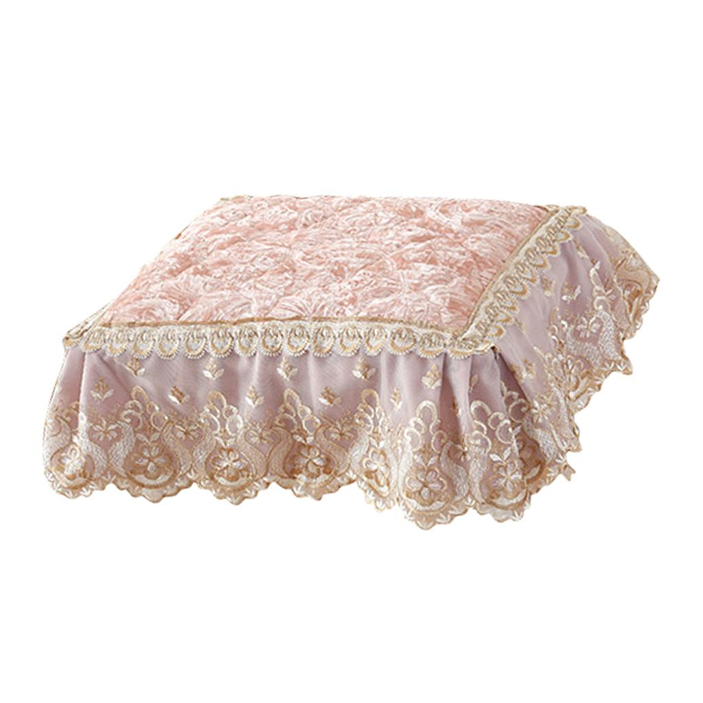 Vaidade Vestir tabela tamborete tampa Dining Chair sofa Almofada Bordado Lace Stool Pad Mat para o Outono Inverno