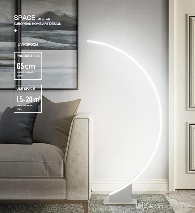 Basit Modern Yaratıcı Kişilik LED Dim Zemin Lambası Masa Lambası Yatak Odası Yatak LED Oturma Odası LED Göz Koruma Zemin Aydınlatma