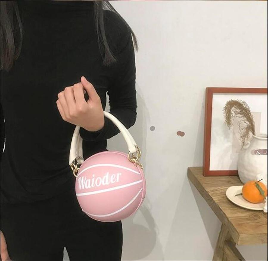 2020 Large Capacity Women Bags Shoulder Tote Bags Bolsos New Women Messenger With Tassel Famous Basketballs Leather Handbags #44980