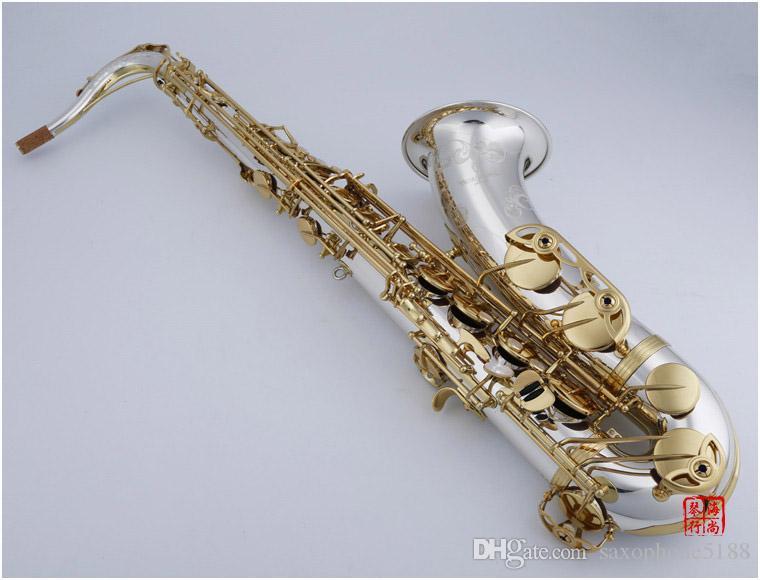 Янагисава WO37 тенор Bb Tune саксофон B Flat Brass Музыкальные инструменты нейзильбер гальваническим тела Ключ Sax С Корпус мундштук