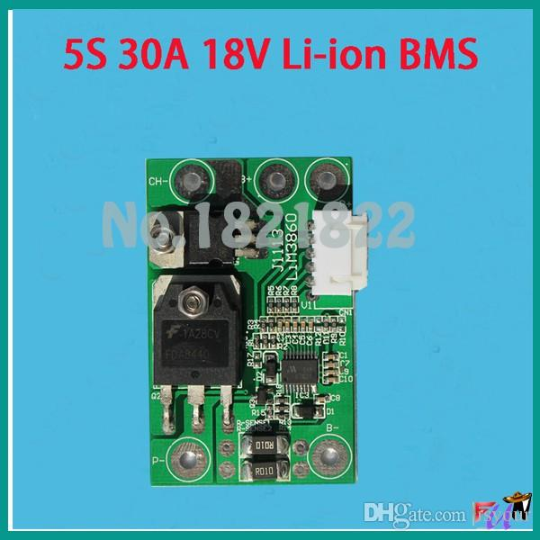 Freeshipping 5S 30A 18.5V li-ion BMS PCM battery protection board bms pcm for lithium LicoO2 Limn2O4 18650 li battery