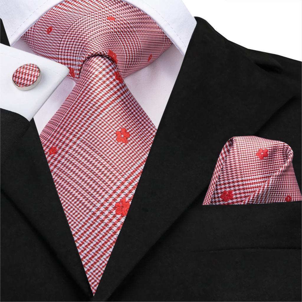 2020 повседневная цветочные галстуки для мужчин свадебные костюмы тканые Gravatas мужские галстуки для бизнес-партии красный галстук ЗП-3220
