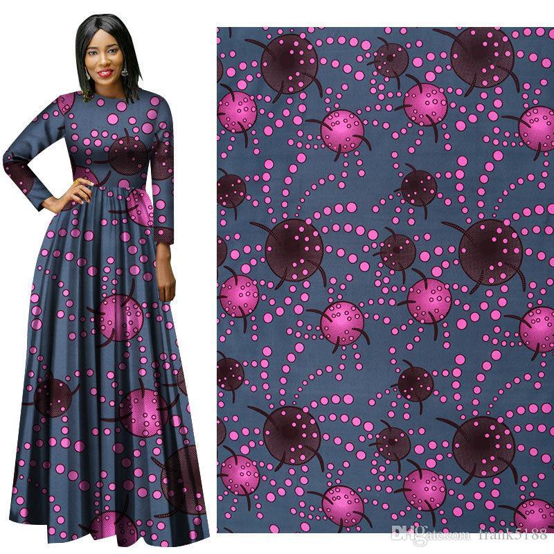 tessuti per costumi nazionali Ankara Stampe in cera di poliestere africana Tessuto Binta Real Wax Tessuto africano di alta qualità da 6 metri per abito da festa