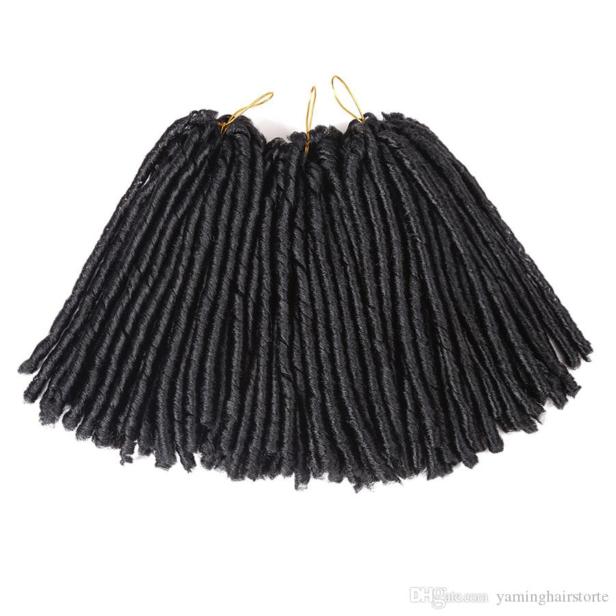 14inch Kanekalon Crochet Hair Extensions ADM Synthetic Dreadlocks Soft Dread Braids for Halloween Decoration(30strands/pack)