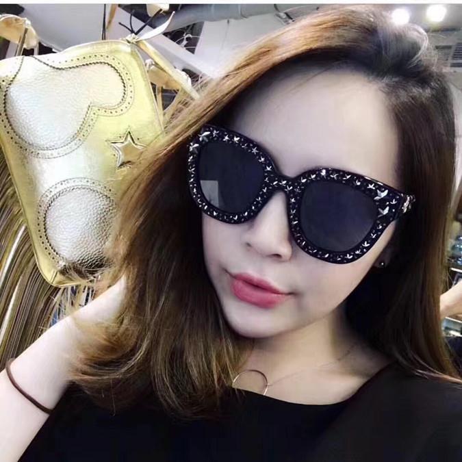 0116 солнцезащитные очки роскошные женщины бренд дизайнер кошачьи глаза очки летний стиль прямоугольник полный кадр высокое качество УФ защиты поставляются с чехлом
