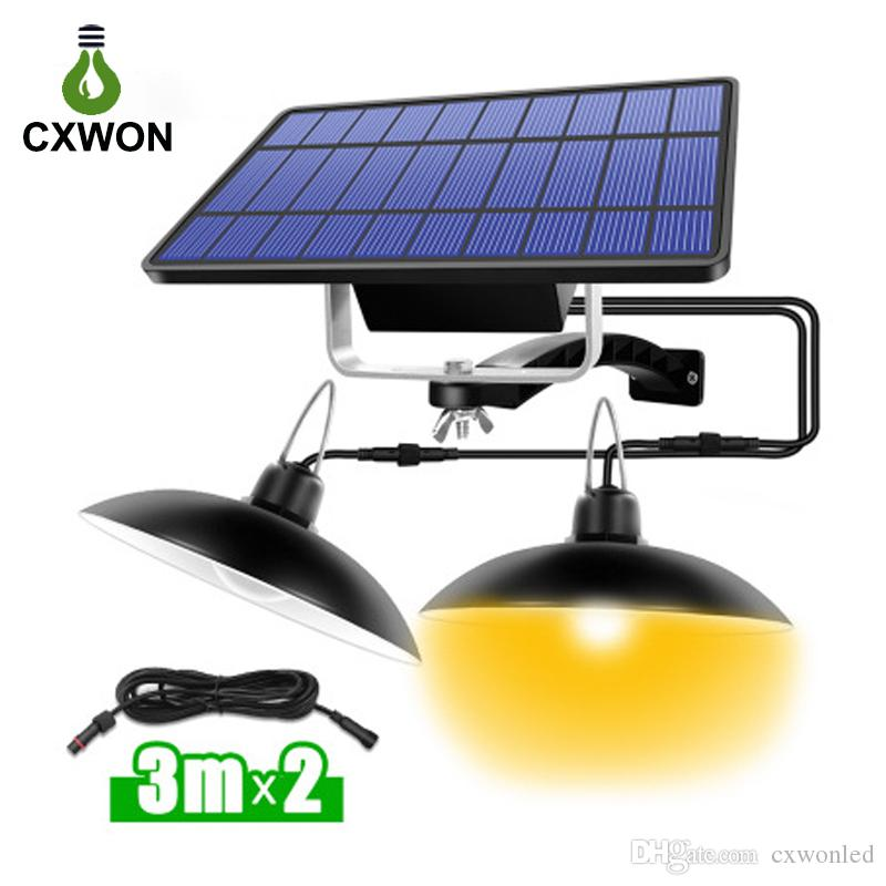 Portable Split Solar Camping Light ABS 32Leds 520LM Waterproof LED Tent Outdoor Indoor Suspension Lamp Double Head Emergency Lighting