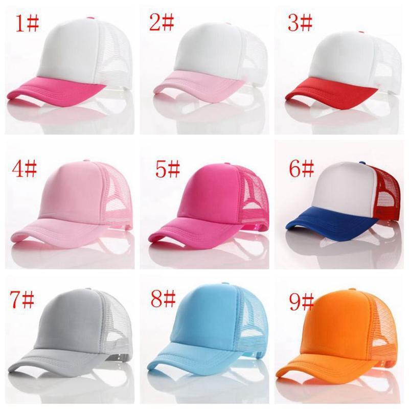 Schiuma Cappello Trucker Cap da baseball posteriore della maglia Solid Snapback adulto registrabile della protezione della maglia berretto da baseball camion cappello conducente 23 colori