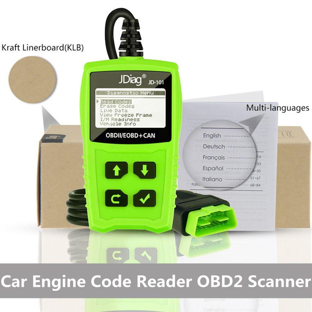 JDiag OBD2 OBDII Code Reader Scan инструменты OBD 2 OBD II сканер кода автомобиля диагностический инструмент Авто сканер ПК AD310 NL100 OM123
