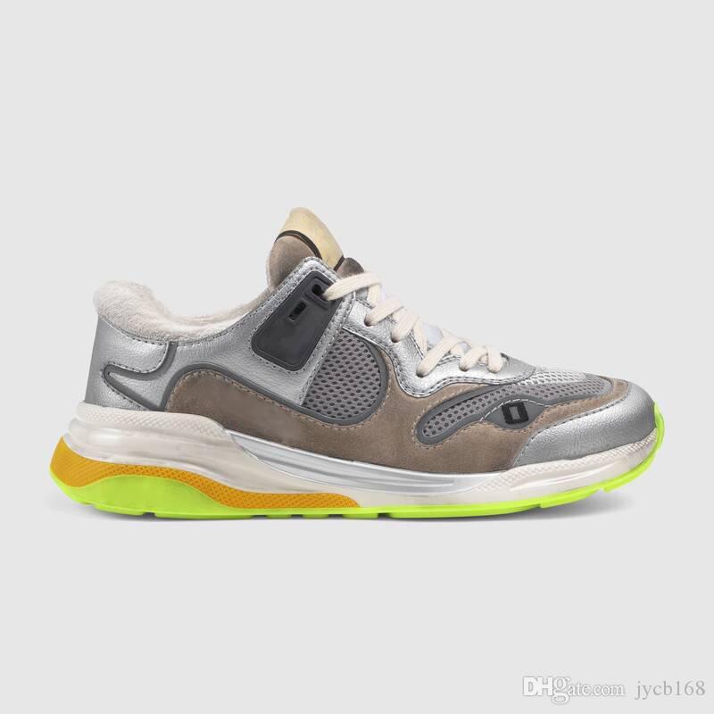 2019 nuevas zapatillas de deporte para hombre Ultrapace con reflexivo Tela calzados informales de diseño de París de la vendimia en Ante 1LH20 zapatos de lujo 35-45 51