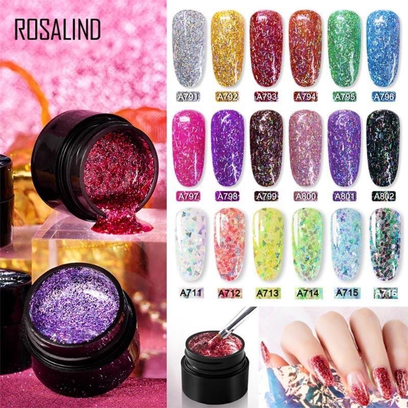 1PC Shiny Silk Sequins Gel Nail Soak Off UV Polish Painting Bright Semi Transparent DIY Long Lasting Manicure Nail Art Lacquer