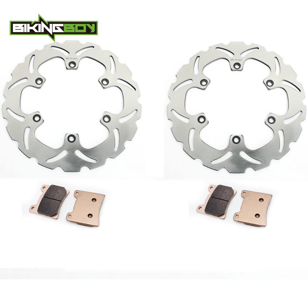 2020 BIKINGBOY Front Brake Discs Disks Rotors Pads For YFM