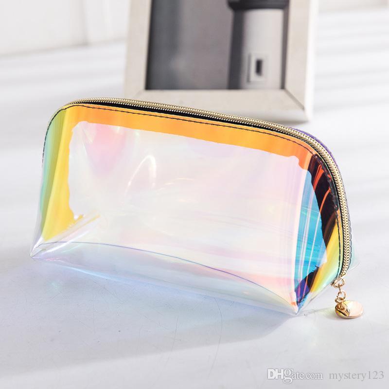Bolso cosmético con láser de TPU La muchacha portátil compone el bolso del teléfono del monedero de la moda del recorrido de las mujeres del bolso