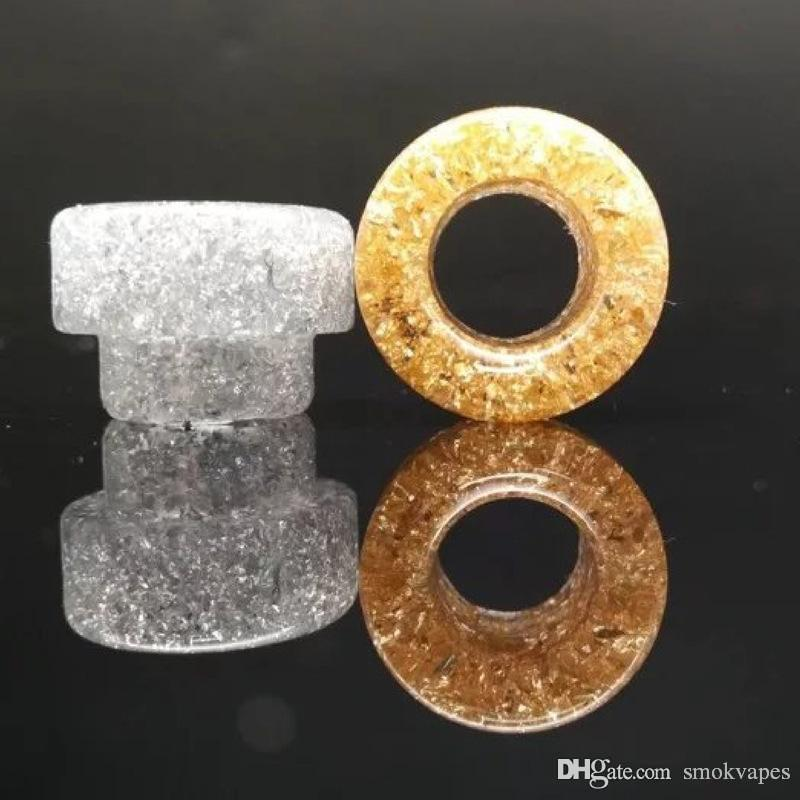 Epoxy ponta Resina gotejamento Resina ouro dicas Ampla Bore gotejamento Bocal para Goon 528 Kennedy 24 RDA AV batalha com único pacote de varejo Hot venda
