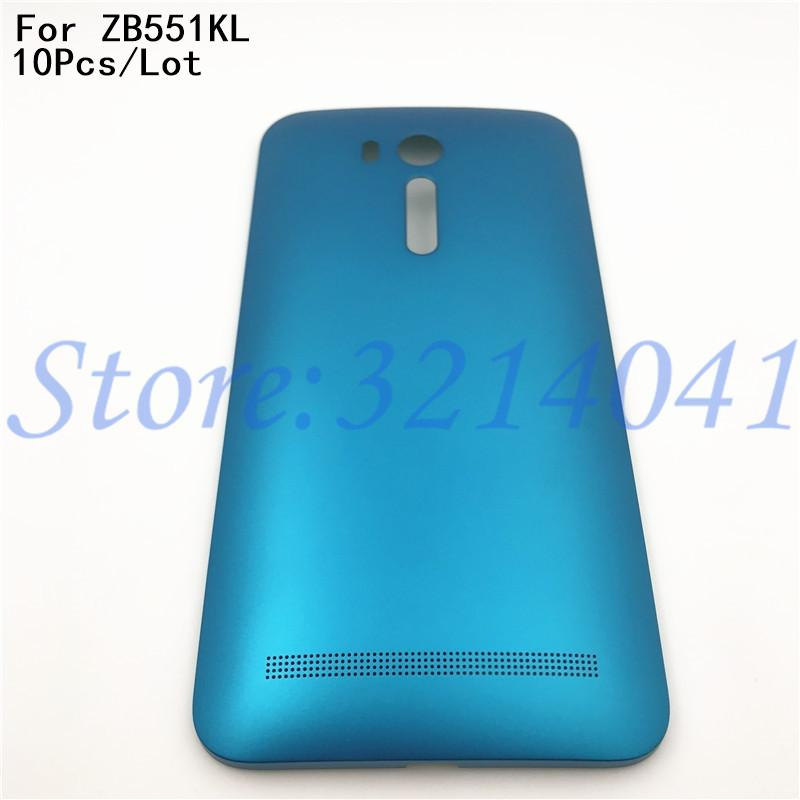 10Pcs/Lot Good quality 5.5 inches New Battery Door Back Cover Housing Case For ASUS Zenfone Go ZB551KL With Power Button+Logo