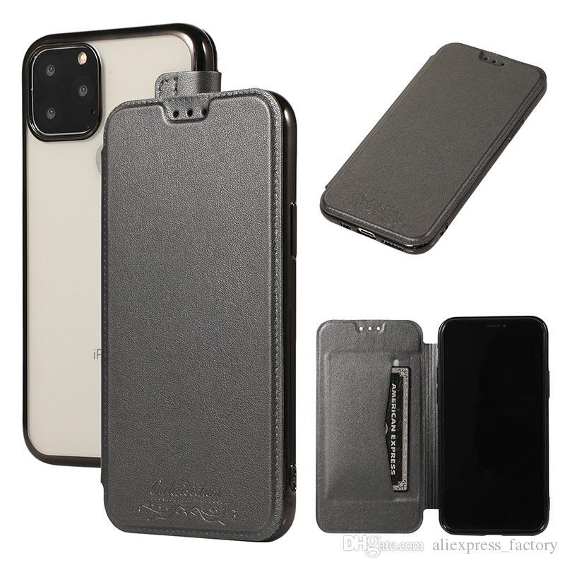 Флип PU Кожаный чехол Wallet чехол с карты Слоты TPU всего тела для iPhone 11 Pro Max XS XR X 8 7 6 Plus Samsung Galaxy S10 E S9 Примечание 10