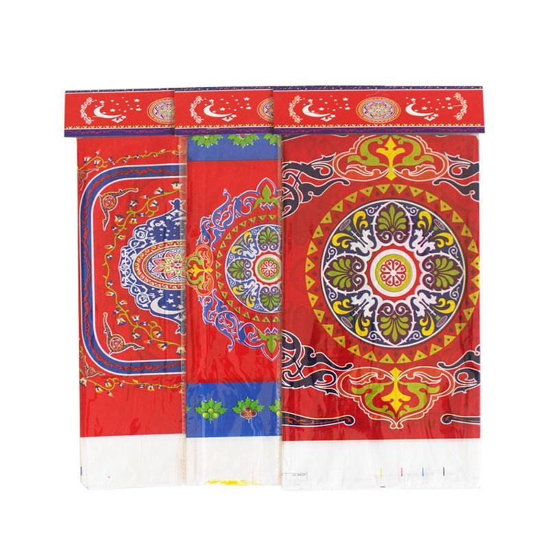pe البلاستيك الجدول القماش مسلم عيد الفطر مهرجان ميزي رمضان غطاء الطاولة غرفة الطعام المطبخ ماء الطباعة 2ybC1