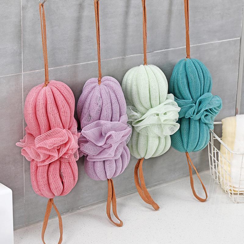 Escovas de banho, esponjas Escovas Escova PE Esponja esfoliante líquido Futon Ball Cleaning L0419