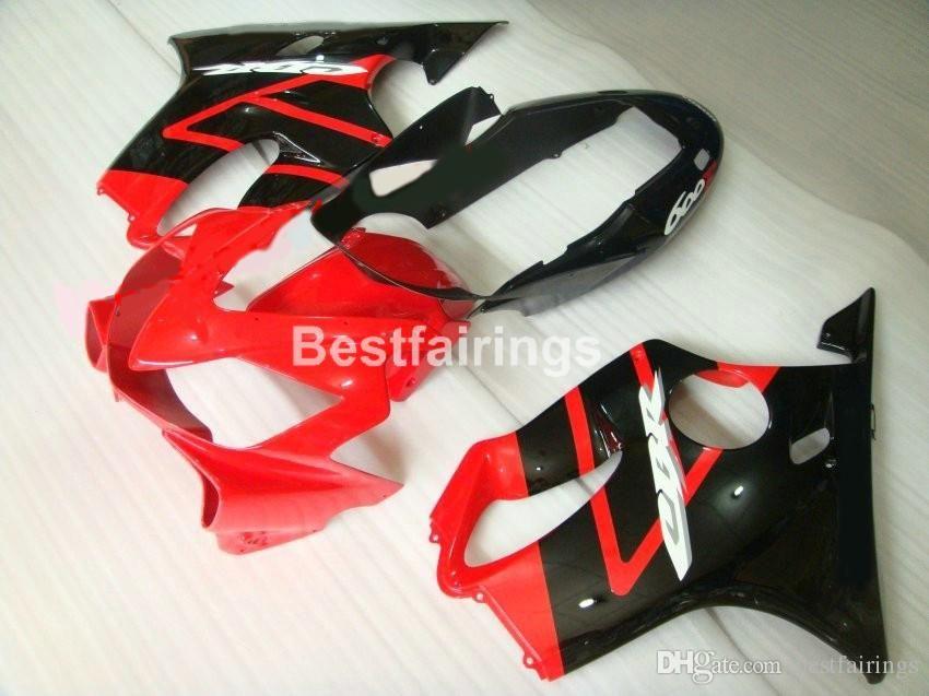 Enjeksiyon kalıplama ücretsiz Honda CBR600 F4I 04 05 06 07 için kaporta kiti özelleştirmek kırmızı siyah kaportalar set CBR600 F4I 2004-2007 IY10