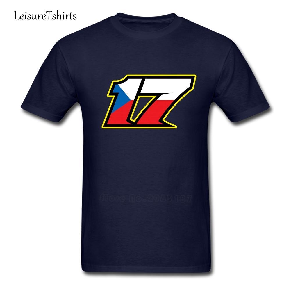 17 카렐 아브라함 어른 티셔츠 체코 어 플래그 디자인 루즈 탑스 남자 반팔 라운드 넥 티셔츠 아빠 옷 Moto Gp Racer