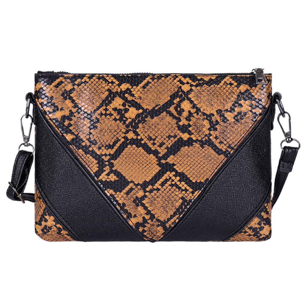 New Elegant Shoulder Bag Women Wild Simple Messenger Bag For Girls Fashion Outdoor Zipper Serpentine Phone shoulder K626