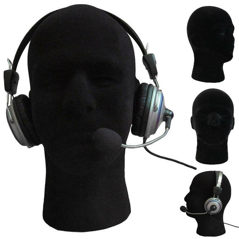 2020 New Black testa di schiuma Modello maschio maschio del Mannequin polistirolo Schiuma poggiatesta Dispo Modello parrucca Cappello Occhiali Display Stand Mannequin