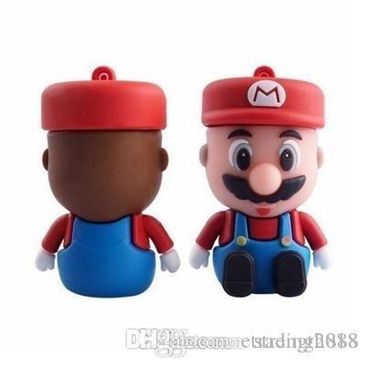 Moda di capienza reale New Super Mario del fumetto USB 2.0 Flash Drive 16GB 32GB 64GB