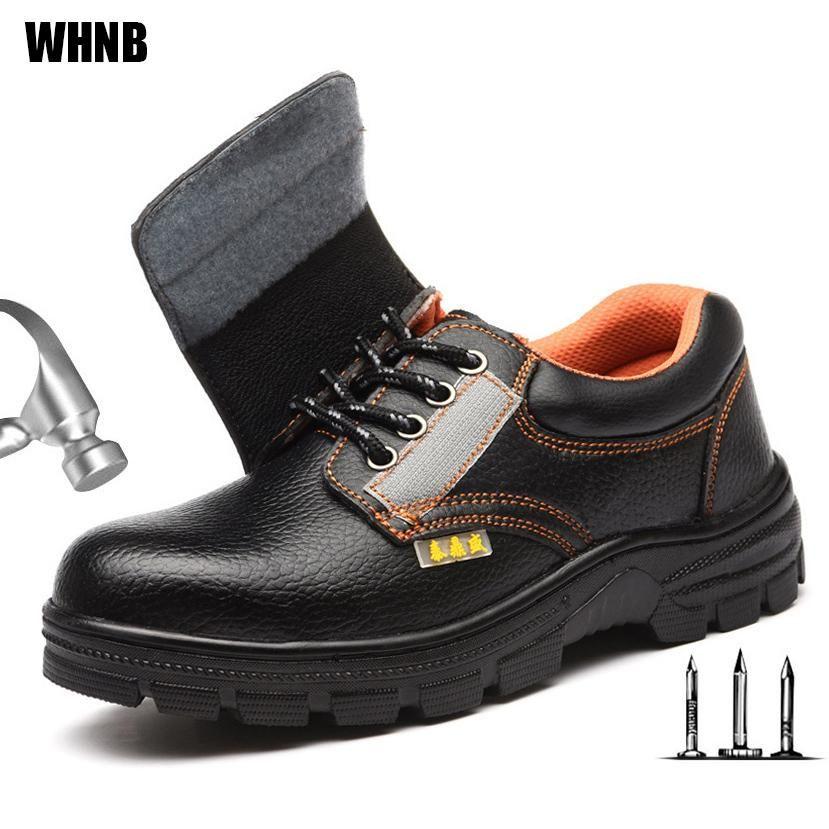 MoneRffi Erkekler Emniyet Ayakkabıları İş Ayakkabıları Aşınmaya dayanıklı Yağ Makine Elektrikçi Bay Bot geçirmez Anti-skid Yeni