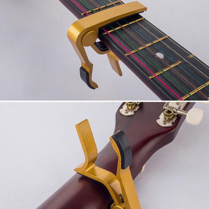 سبيكة الألومنيوم معدن العالمي الغيتار كابو لهجة ضبط التغيير السريع المشبك مفتاح الصوتية الغيتار الكلاسيكي القيثارة ملحقاتها