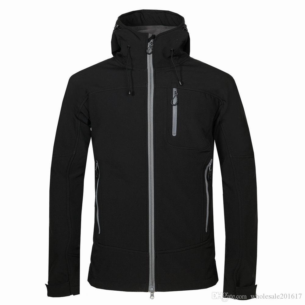 Les nouveaux hommes Helly Veste d'hiver Hooded Softshell pour coupe-vent et manteau souple Veste imperméable Shell HANSEN Vestes Manteaux 17162