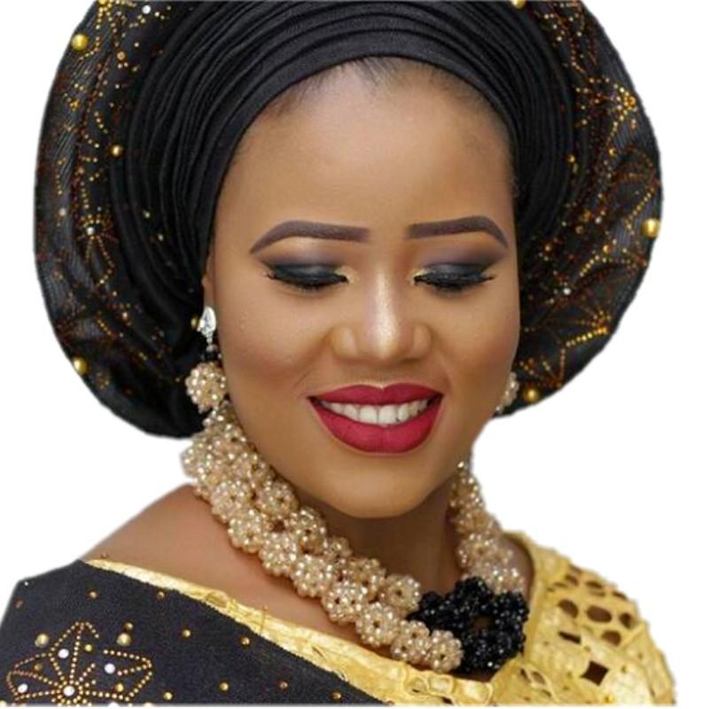 Ожерелье 4UJewelry набор бисера золотой и черный шары свадебные ювелирные наборы для невест костюм колье ювелирные комплект 2018
