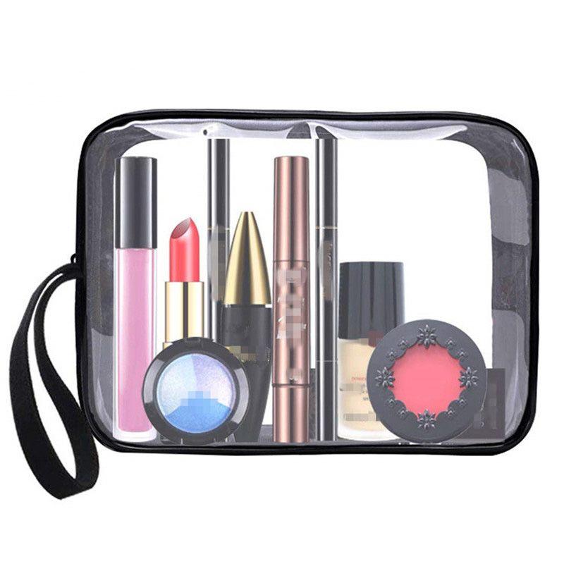 Женщины косметичка ПВХ ясно тотализатор макияж сумка сумки путешествия молния макияж мыть зубная щетка сумка организатор Сумка чехол