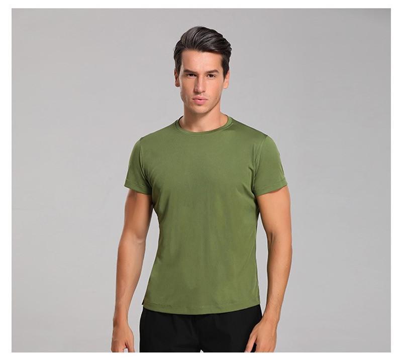 Mens-Sport-Ansatz-T-Shirts Designer Männer beiläufige kurze Sleeved Tops Fitness Regular Länge reine Farben-T-Shirts