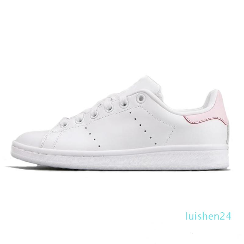 plate-forme kanye mode Smith noir de base Chaussures de sport Blanc Vert Blanc Bleu Skateboard Chaussures Etoiles Flats des femmes des hommes Designer Shoes L24