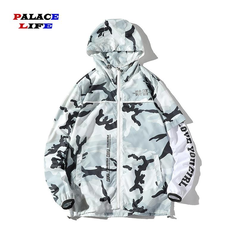 Hip Hop Plus Size Lover Jackets Man Jacket New Camouflage Print Letter Streetwear Jacket Tracksuit Casual Men's Coat