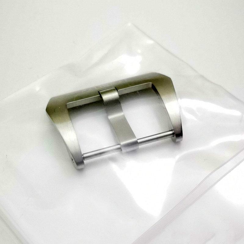 22 mm 24 mm 26 mm de alta calidad OEM plateado cepillado PAND Tornillo Tang hebilla de cuero de la correa de goma correa PAM